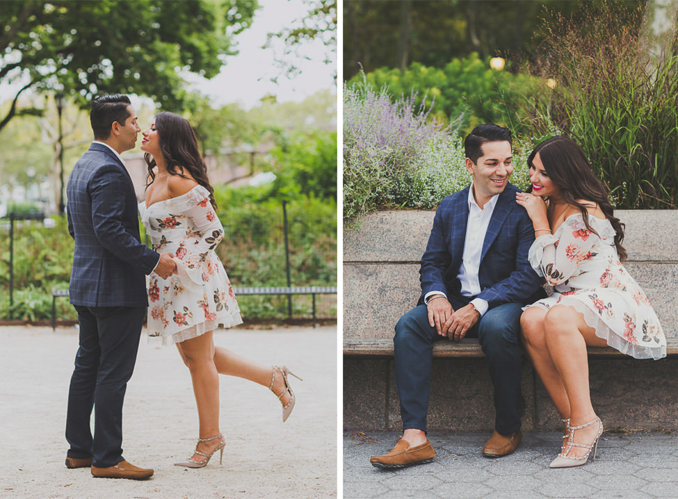 Spring florals pattern for your engagement photo outfits
