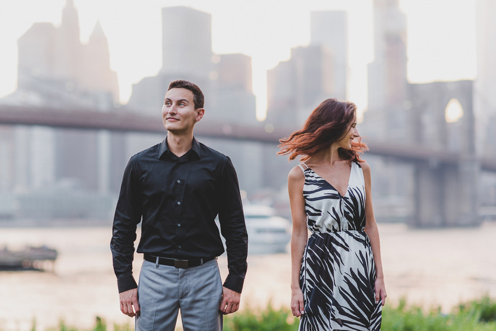 How to wear bold patterns for your engagement photo outfits